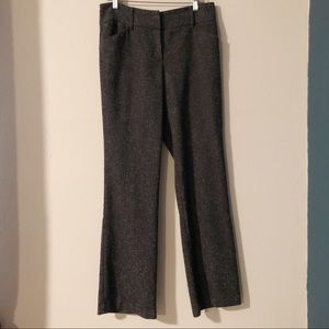 New York and Co tall charcoal tweed trousers